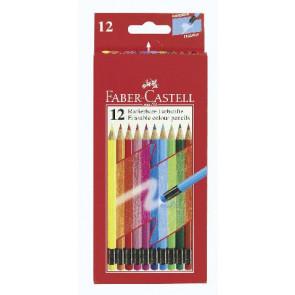 Faber Castell Farbstift mit Radierer 12er-Schachtel