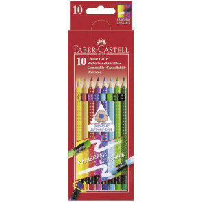 Faber Castell Farbstift Radierbar Colour Grip 10Er Etui