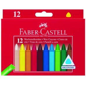 Faber Castell Wachsmalkreide Dreikant 12er Papierbanderole Fc wasserfest