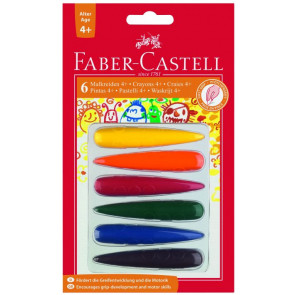 Faber Castell Malkreide Finger 6er-Pc für Kinder ab 4 Jahre
