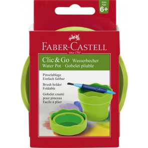 Faber Castell Wasserbecher Clic and Go hellgrün