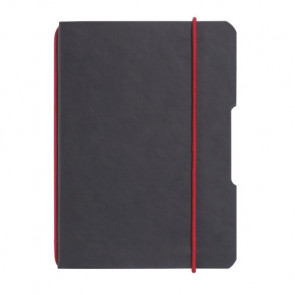 Herlitz my.book flex - Schwarz Lederoptik Notizheft kariert A4 40 Blatt, gelocht mit Mikroperforation