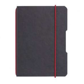 Herlitz my.book flex - Schwarz Lederoptik Notizheft kariert A6 40 Blatt