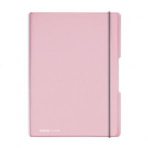 Herlitz my.book flex - Rosé Notizheft kariert und liniert A4 2x 40 Blatt, gelocht mit Mikroperforation