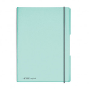 Herlitz my.book flex - Minze Notizheft kariert und liniert A4 2x 40 Blatt, gelocht mit Mikroperforation