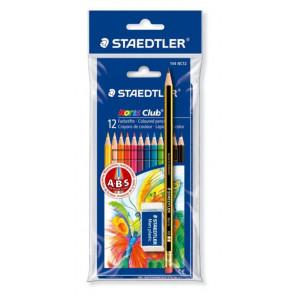 Staedtler Farbstift 12er-Etui mit Bleistift und Radierer Blister