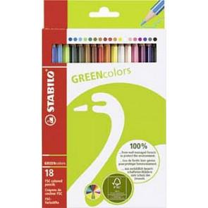 Stabilo Farbstift Greencolors 18Er Etui FSC-Zertifiziert