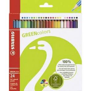 Stabilo Farbstift Greencolors 24er-Sc 6019224 Stabilo FSC-Zertifiziert