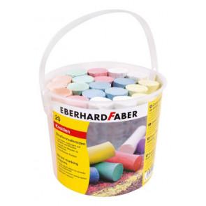 Eberhard Faber Straßenmalkreide farbig sortiert 20 Stück im Eimer