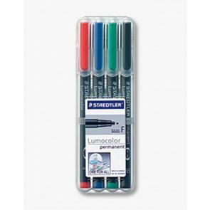 Staedtler Lumocolor Folienschreiber Superfein Wl 4Er Etui 3