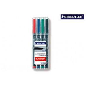 Staedtler Lumocolor Folienschreiber Fein Wf 318Wp4 4Er Etui