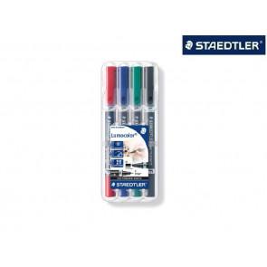 Staedtler Lumocolor Duo Permanent Marker 4Farben 348B WP4