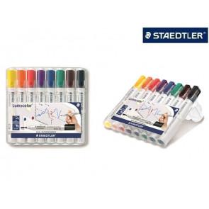 Staedtler White-Board-Marker 351 8er Etui Rundspitze Lumocolor