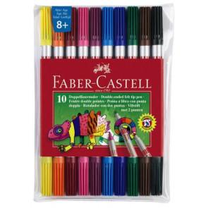 Faber Castell Fasermaler Dick und Dünn 10Er-Etui Faber-Castell 151110