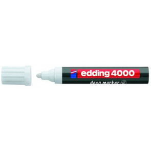 Edding Edding Deco Marker 4000 Weiss Breit Ca. 2-4Mm für Holz+Terracotta Etc.
