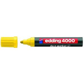 Edding Edding Deco Marker 4000 Gelb Breit Ca 2-4Mm für Holz+Terracotta Etc.