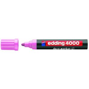 Edding Edding Deco Marker 4000 Rosa Breit Ca. 2-4Mm für Holz+Terracotta Etc.