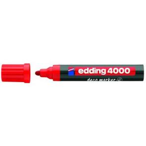 Edding Edding Deco Marker 4000 Rot Breit Ca 2-4Mm für Holz+Terracotta Etc.