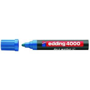 Edding Edding Deco Marker 4000 Blau Breit Ca 2-4Mm für Holz+Terracotta Etc.
