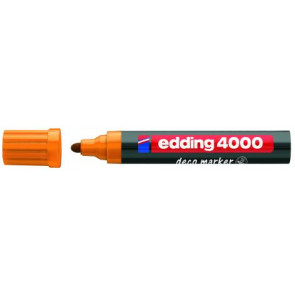 Edding Edding Deco Marker 4000 Orange Breit Ca 2-4Mm für Holz+Terracotta Etc.