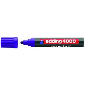 Edding Edding Deco Marker 4000 Violett Breit Ca 2-4Mm für Holzt+Terracotta Etc.