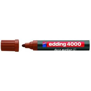 Edding Edding Deco Marker 4000 Braun Breit Ca 2-4Mm für Holz+Terracotta Etc.