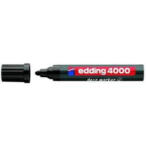Edding Edding Deco Marker 4000 Schwarz Breit Ca 2-4Mm für Holz+Terracotta Etc.