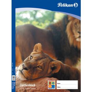 Pelikan Zeichenblock DIN A2 mit 10 Blatt in guter Schulqualität