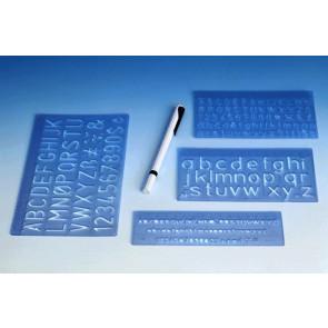 Wedo Schrift-Schablonen-Set 5/10/20mm 7012