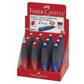 Faber Castell Dosen-Spitzer Einfach Kombiniert mit Radierer Stiftform Rot-Blau Sort