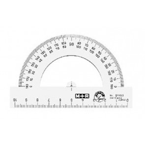 M+R Winkelmesser Halbkreis glasklar 10cm