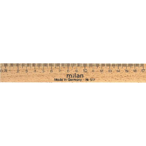Milan Lineal Holz 17cm