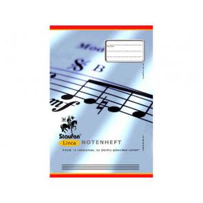 Staufen Linea Notenheft DIN A4 8 Blatt 12 Notensysteme
