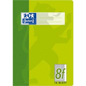 Oxford Schulheft DIN A5 16 Blatt Lineatur 8f rautiert Rand