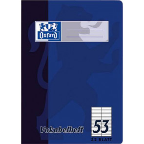 Oxford Vokabelheft DIN A6 32 Blatt liniert Lineatur 53