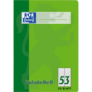 Oxford Vokabelheft A4 32Bl 90g liniert Oxford