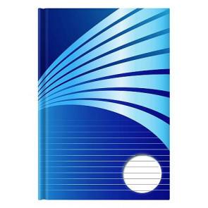 Kladde A4 192 Seiten liniert blau Motiv