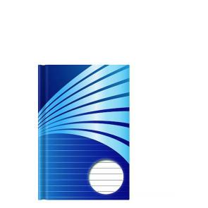 Kladde A5 192 Seiten liniert blau Motiv