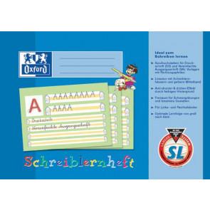 Oxford Schreiblernheft DIN A4 Lineatur SL 16 Blatt farbiger Mittelband