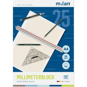 Milan Millimeter-Block A4 25Bl Milan 240