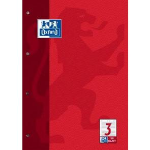 Oxford Arbeits-Block A4 50 Blatt Lin Anfänger Lineatur 3 90g Oxford 384405003 und 100050342