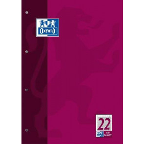 Oxford Arbeitsblock DIN A4 50 Blatt Lineatur 22