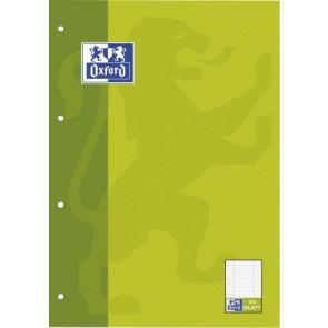 Oxford Brief-Block A4 50 Blatt 4 Fach gelocht - kariert und liniert in einem Block