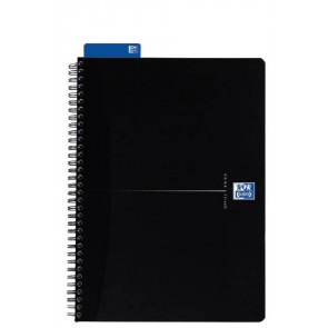 Oxford Spiralbuch Office A5 liniert schwarz 90 Blatt 353002988 und 100103627