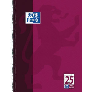 Oxford Seminar-Block A4- 80 Blatt weißer Rand Lineatur 25