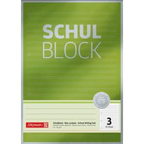Brunnen Schulblock Premium A4 Lin.3
