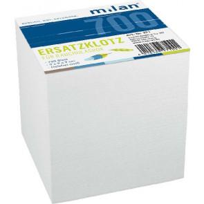Milan Zettelbox-Ersatzklotz Milan ca. 700 Bl 9x9x9 cm lose Blätter weiss