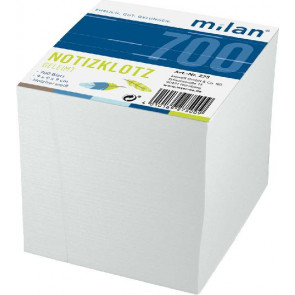 Milan Notizklotz Milan 9x9x9cm 275 weiss 1 Seite geleimt Folia 8912