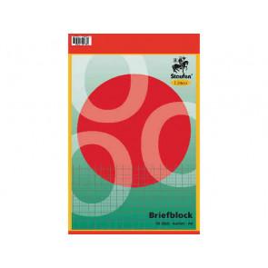 Linea Briefblock-Schulblock A4 50Bl kariert ungelocht Linea