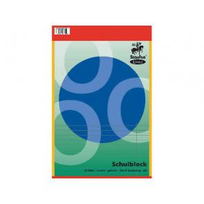 Staufen Linea Schulblock DIN A4 50 Blatt liniert Doppelrand gelocht